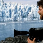 Filming in Glacier Bay, southeast Alaska.