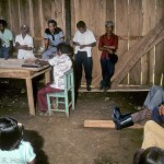 "Community (""ejido"") meeting in the Tuxtlas Mountains, Veracruz, Mexico."