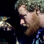 Man (WWF ornithologist) meets bird